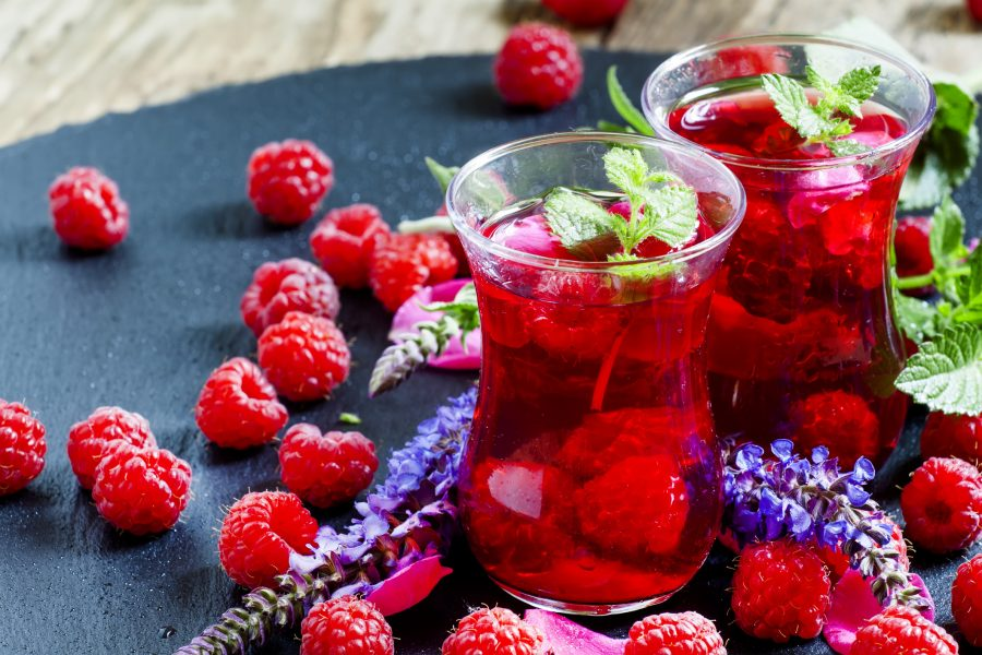 Iced Red Tea Drink