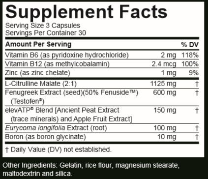 Total-T Label Ingredients